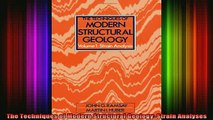 READ book  The Techniques of Modern Structural Geology Strain Analyses Full EBook