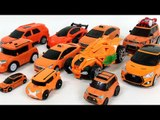 Orange Color Carbot Tobot Robot Transformation Car Toys 주황색 오랜지색 헬로카봇 골드렉스 또봇 자동차 장난감 변신 동영상