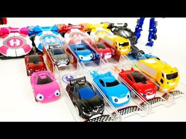 파워 배틀 와치카 배틀트랙세트 스페셜버전 장난감 개봉 동영상 Minicar Power Battle Watch Car Transformers Carbot Car Toys