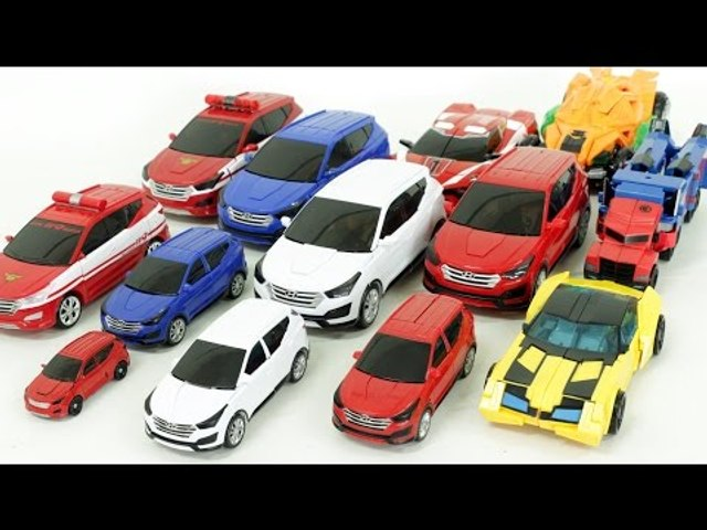 Twins Carbot Santafe Transformers Tobot Robot  Car Toys 헬로카봇 산타페 에이스 모든차량 트랜스포머 또봇 자동차 장난감 변신 동영상