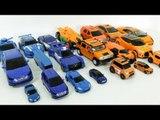 Orange Blue Color Transformers Carbot Tobot  Robot Car Toys 주황색 파란색 카봇 또봇  트랜스포머 자동차 장난감 변신 동영상