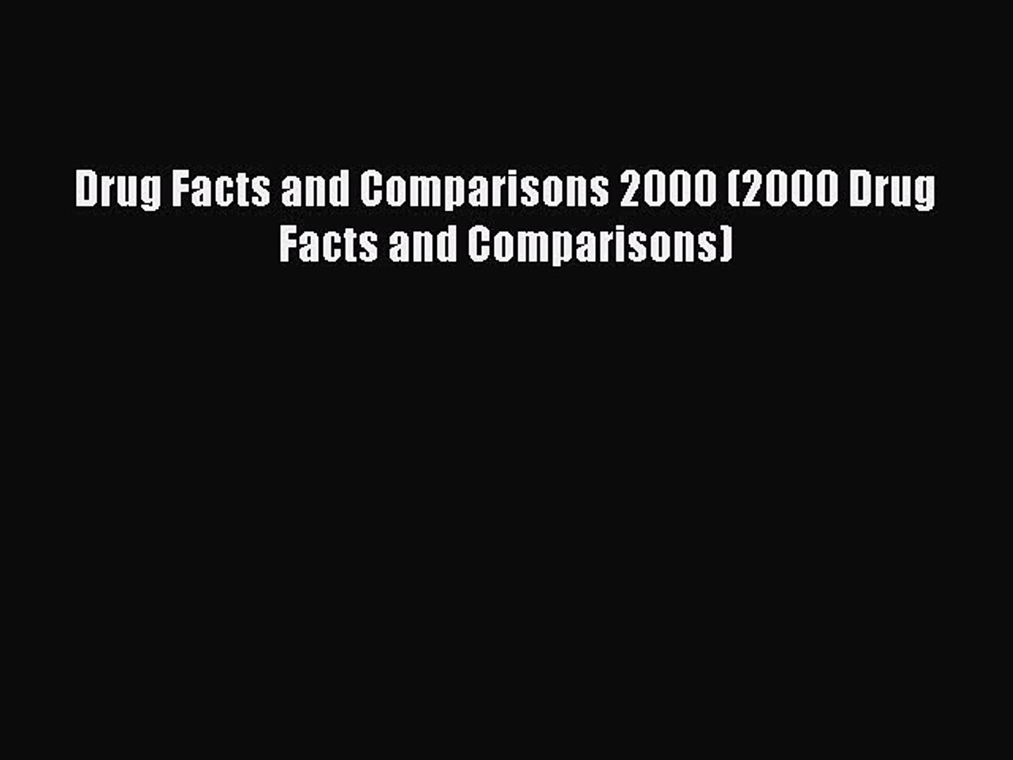Read Book Drug Facts and Comparisons 2000 (2000 Drug Facts and Comparisons) PDF Free