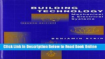 PDF Download] Building Technology: Mechanical and Electrical Systems