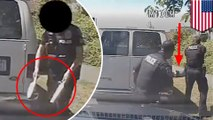Dashcam footage shows knife-wielding man gunned down by Seattle police officer - TomoNews