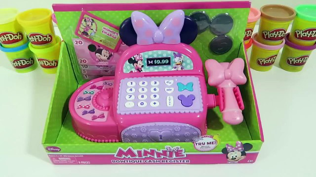 Peppa Shopping in Shopkins Supermarket using Minnie Mouse Electronic Cash Register BowTiqu