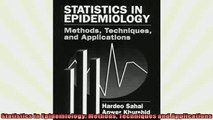 FREE PDF  Statistics in Epidemiology Methods Techniques and Applications  FREE BOOOK ONLINE