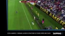 Copa America : L'Argentin Ezequiel Lavezzi se fracture le coude après une chute spectaculaire (Vidéo)