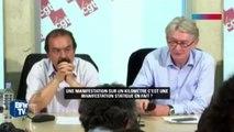 Manifestation : Jean-Claude Mailly fait de l'humour