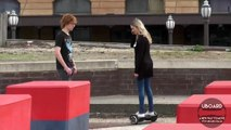 Girlfriend Picking up Guys on Hoverboard Prank