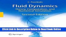 PDF Download Fluid Dynamics Theory Computation and Numerical