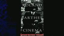 FREE PDF  Roland Barthes Cinema READ ONLINE