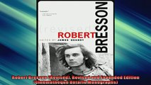 Free PDF Downlaod  Robert Bresson Revised Revised and Expanded Edition Cinematheque Ontario Monographs READ ONLINE