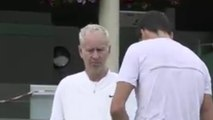 Wimbledon 2016 - Milos Raonic avec John McEnroe à Wimbledon