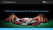 $100,000 VIP-Grinders Rake Race – Join the richest rake race in the world! | Poker Club | Poker Affiliate Listing