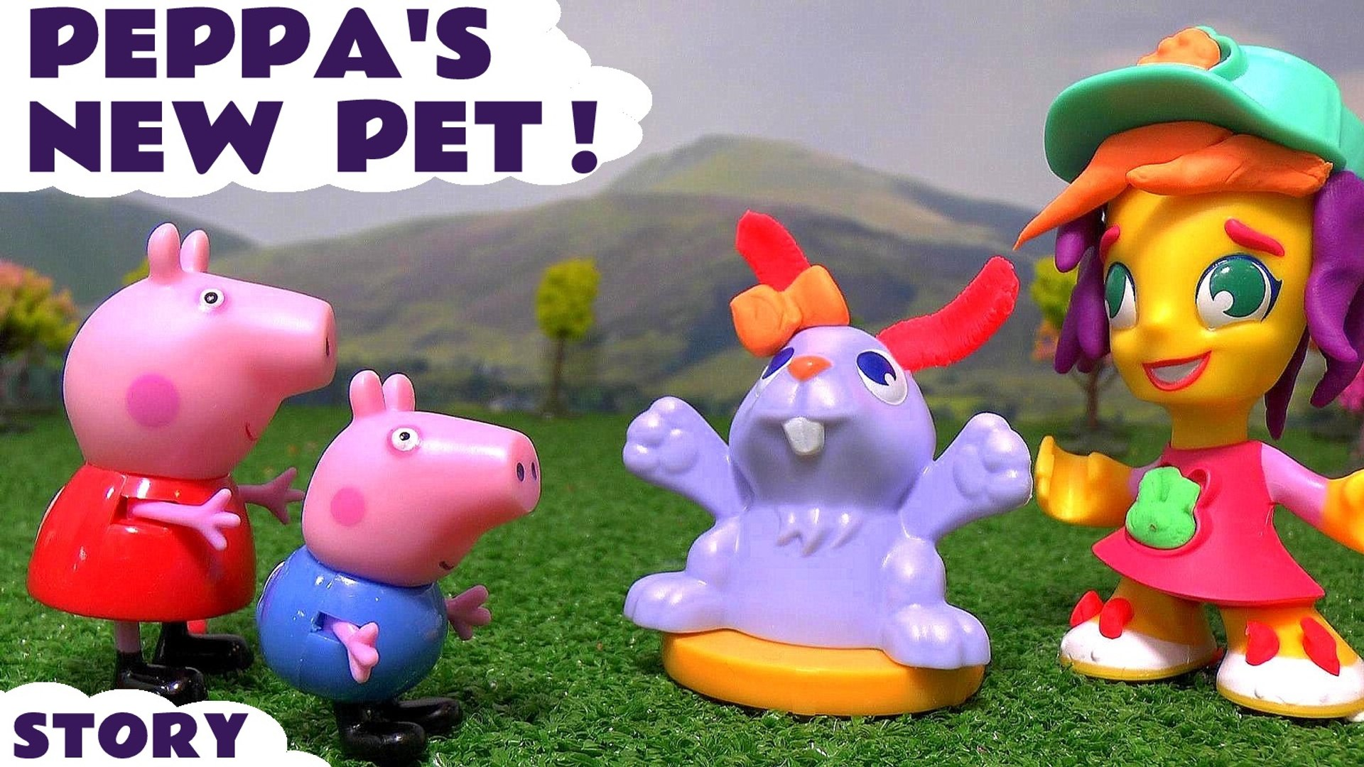 PEPPA'S NEW PET --- Peppa Pig and george want a pet but Daddy pig doesn't allow it, then t