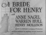 1937 A BRIDE FOR HENRY - Warren Hull, Anne Nagel - Full movie