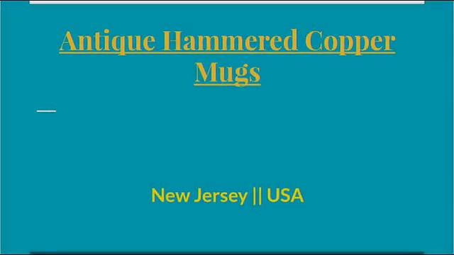 Looking For Best Copper Mugs In NJ