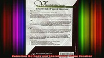 DOWNLOAD FREE Ebooks  Valuation Methods and Shareholder Value Creation Full Ebook Online Free
