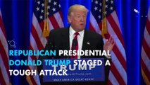 Donald Trump lashes out at Hillary Clinton