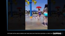 Cette baby-sitter laisse un bébé de 7 mois dans une attraction aquatique, la vidéo choc !