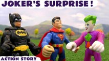 JOKER'S SURPRISE --- Join DC Comic Heros Batman and Superman as they recieve help from Mashems in order to deal with the Joker! Second half features Toy Story, The Avengers, Disney Cars and many more family fun toys