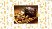 Recipe Rib Roast with Red Wine Demi-Glace and Roasted White Potatoes and Asparagus