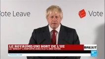 """BREXIT - Le Royaume-Uni sort de l'UE : Retrouvez l'intervention de Boris Johnson, partisan du """"LEAVE"""""""
