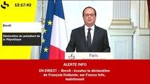 """Brexit - François Hollande : """"Les dangers sont immenses face au populisme"""""""