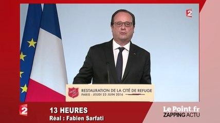 """Loi travail : Hollande promet d'aller """"jusqu'au bout"""" - Zapping du 23 juin"""