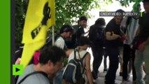 La police utilise du spray au poivre contre les opposants à la loi travail
