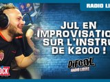 Jul en improvisation sur l'instru de K2000 en live dans la Radio Libre De Difool