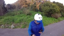 electric skate boarding thru MLK in golden gate park San Francisco