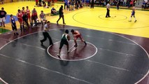 ACHS Wrestling Bryan Station Meet Clay Bowman vs BS 1