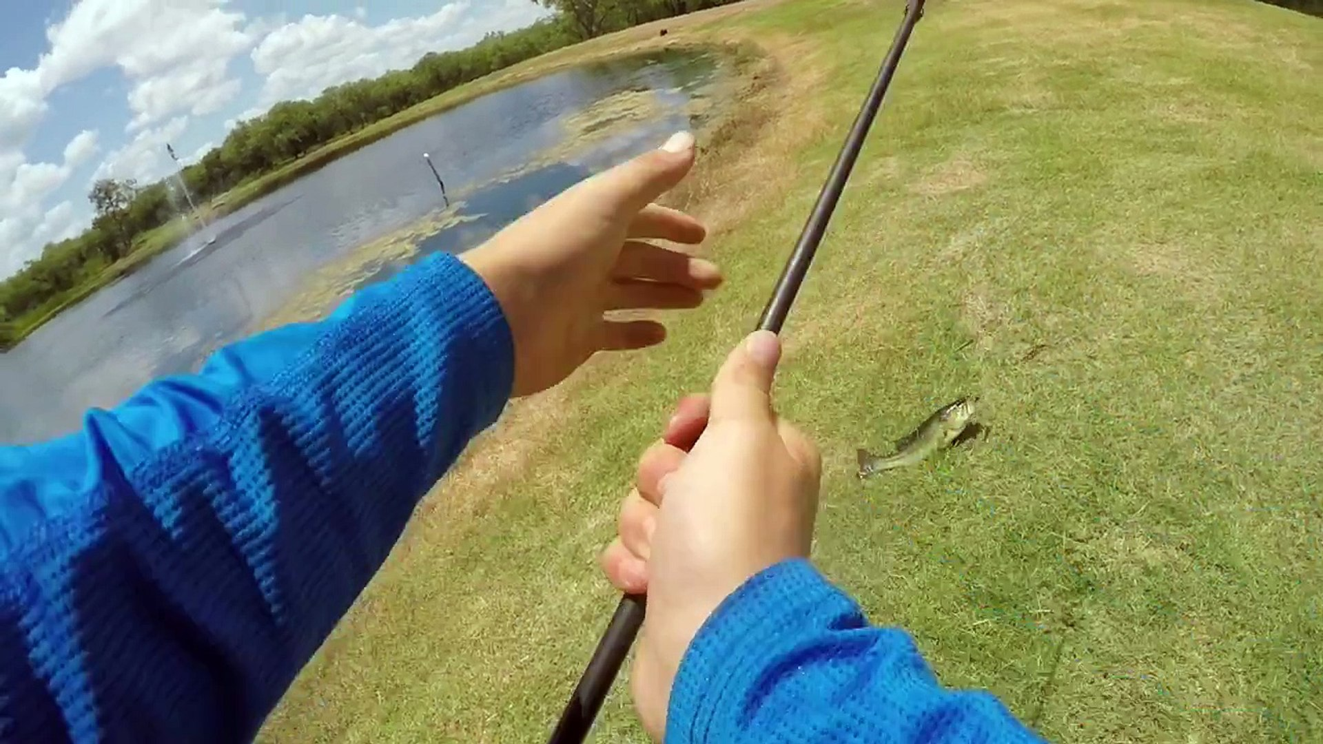 pond bass fishing+(personal Best Bass?!!!)
