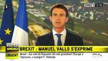 """Brexit - Manuel Valls : """"Ce choix des Britanniques, c'est un électro-choc"""""""