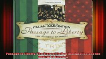 DOWNLOAD FREE Ebooks  Passage to Liberty The Story of Italian Immigration and the Rebirth of America Full Free