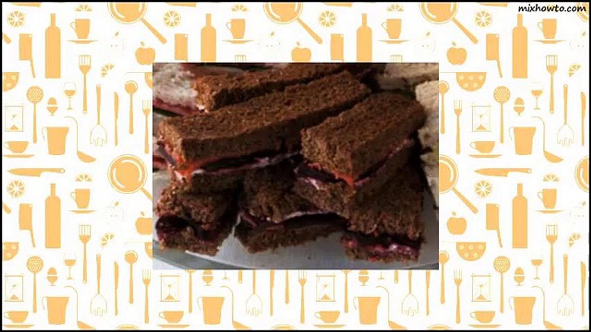 Recipe Smoked Salmon Tea Sandwiches Recipe