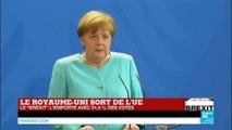 BREXIT - Le Royaume-Uni sort de l'UE : Retrouvez l'intervention d'Angela Merkel