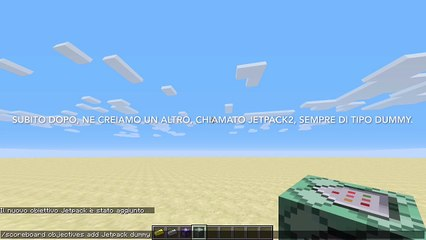Tutorial - Jetpacks with six commands! - Minecraft ITA