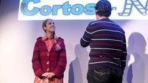 Presentación de las proyecciones de Cortos con Ñ del 15 de noviembre, realizada por Alba Messa