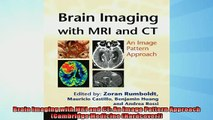 EBOOK ONLINE  Brain Imaging with MRI and CT An Image Pattern Approach Cambridge Medicine Hardcover  BOOK ONLINE