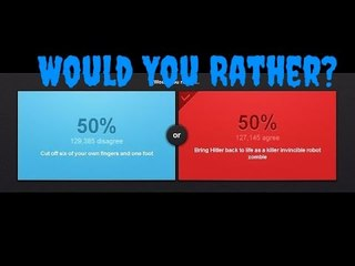would you rather blue or red