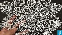 Un artiste japonais réalise des découpages de papier d'une magnifique précision