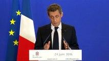 """Brexit - Nicolas Sarkozy demande un """"nouveau traité"""" européen"""