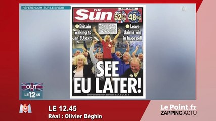 """See EU later !"" Le Brexit amuse ""The Sun"" - Zapping du 24 juin"