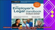 complete  Employers Legal Handbook The Manage Your Employees  Workplace Effectively