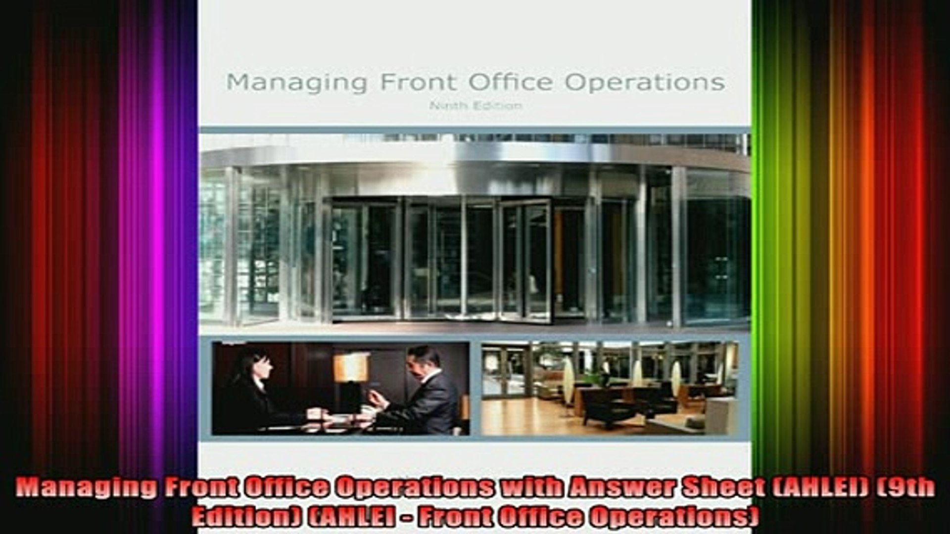 READ FREE FULL EBOOK DOWNLOAD  Managing Front Office Operations with Answer Sheet AHLEI 9th Edition