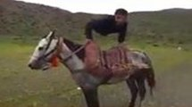 Man without Legs riding on Horse - Incredible