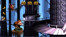 [Snes] [Gameplay] Donkey Kong Country - 4.6.- Gorilla Glacier - Rope Bridge Rumble