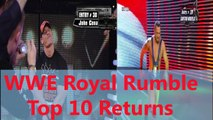 WWE - WWE Wrestling - WWE Royal Rumble Top 10 returns in history ever! - Wrestling World